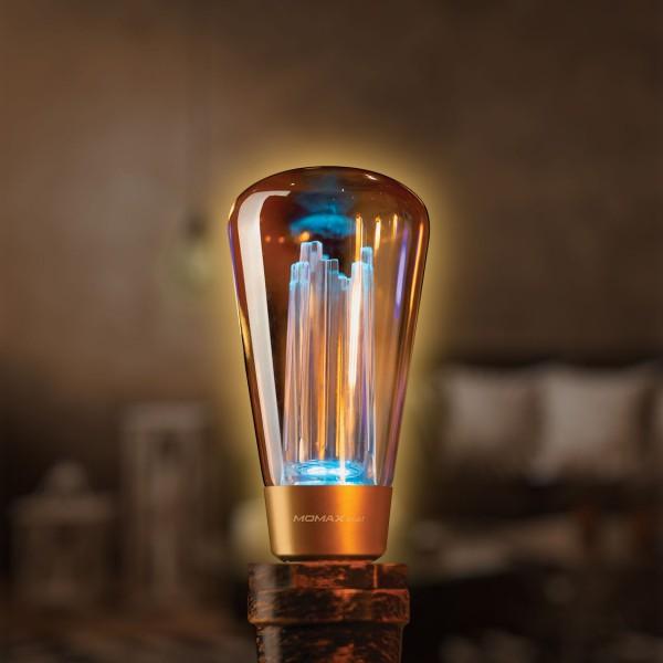 MOMAX SMART IoT 復古WiFi智能LED燈泡 E27/2700K RGB彩光