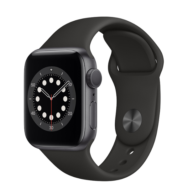 APPLE Watch S6 GPS 40mm Space Grey/Black Sport Band-Regular