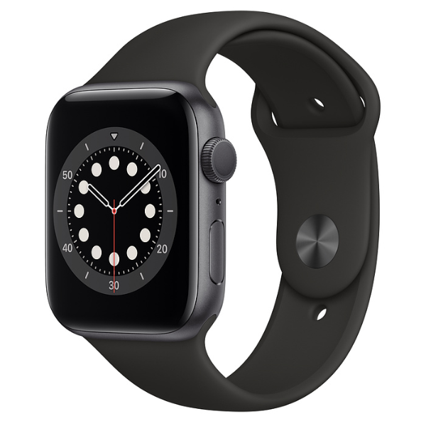 APPLE Watch S6 GPS 44mm Space Grey/Black Sport Band-Regular