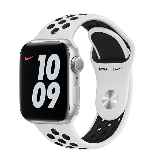 APPLE Watch Nike S6 GPS 40mm Silver/Black Sport Band-Regular