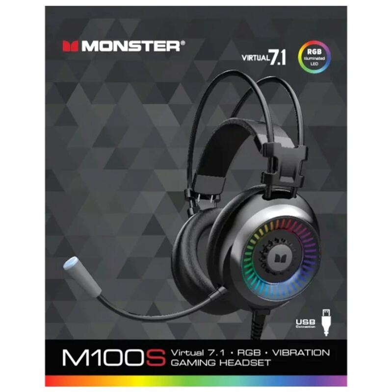 MONSTER USB Gaming Headset M100S Virtual 7.1