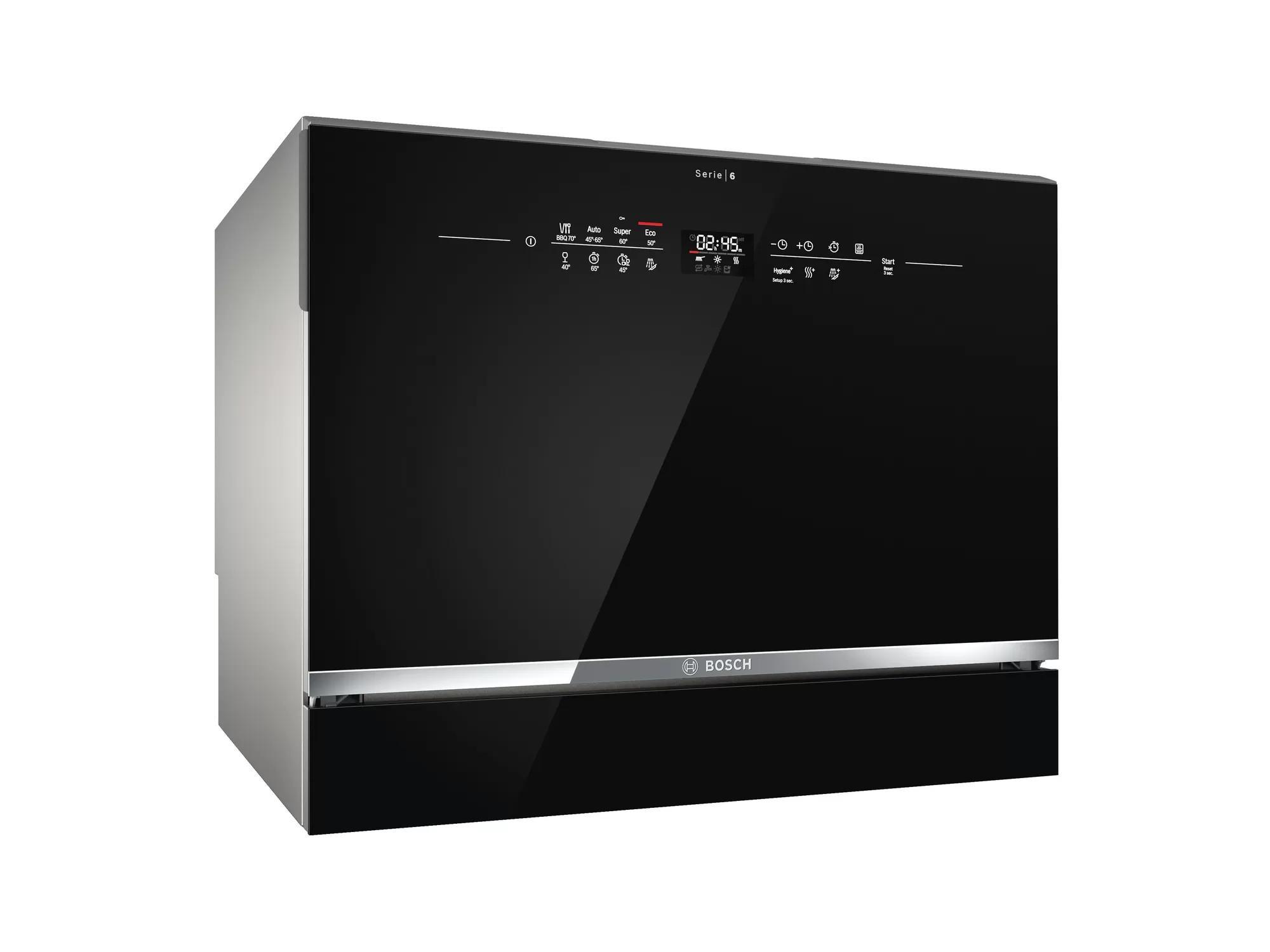 BOSCH [i]6套桌面式洗碗碟機 SKS68BB008 黑玻璃