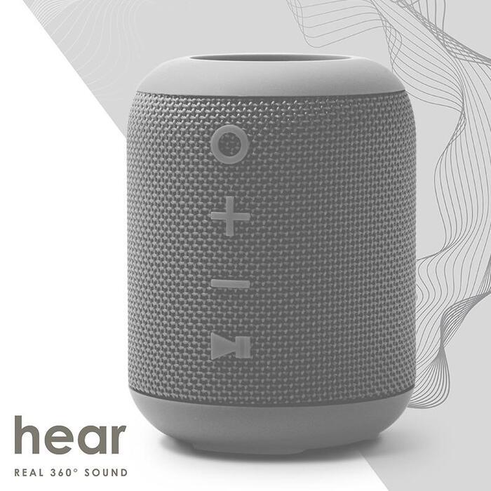 SoundCrush [3/i]M7便攜式防水立體聲藍牙喇叭[可插TF卡 Misty Grey