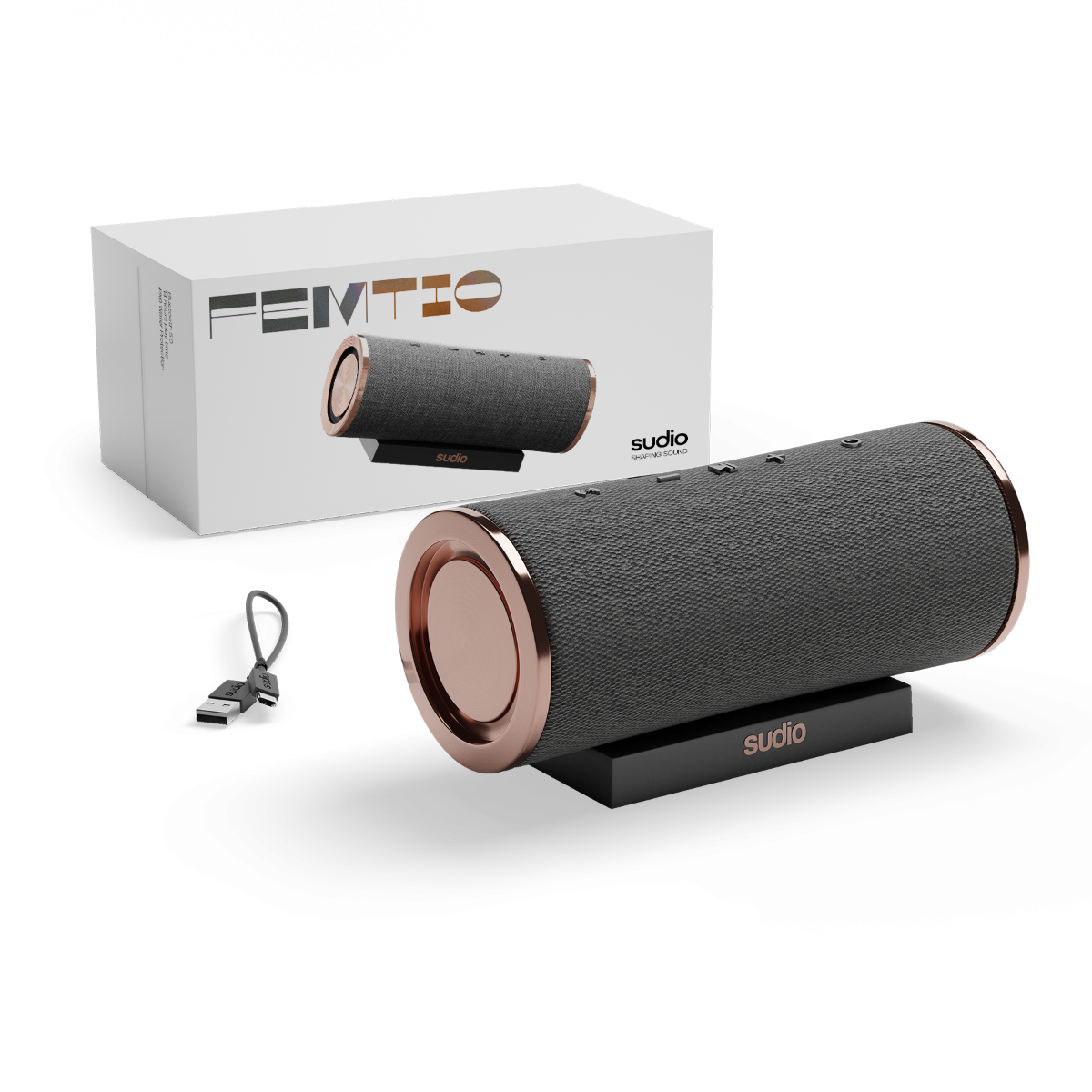 sudio Femtio Bluetooth Speaker Antracite/Copper