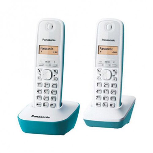 PANASONIC 雙子機無線電話 KX-TG1612HKC湖水藍