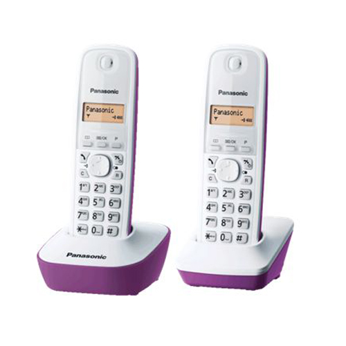 PANASONIC 雙子機無線電話 KX-TG1612HKF 紫色