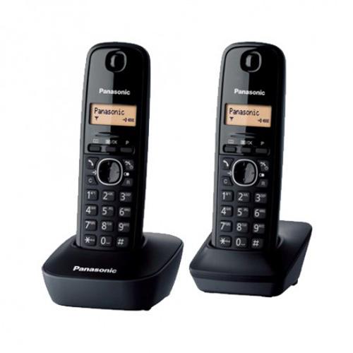 PANASONIC 雙子機無線電話 KX-TG1612HKH深灰