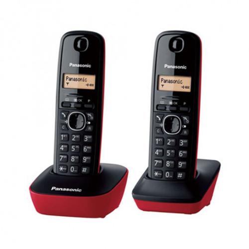 PANASONIC 雙子機無線電話 KX-TG1612HKR紅