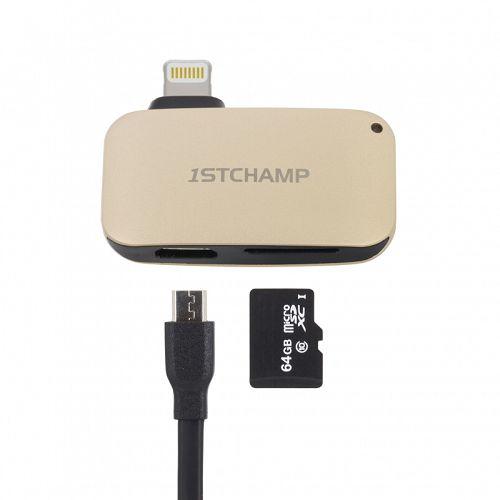 First Cham MFI Lightning Card Reader Gold