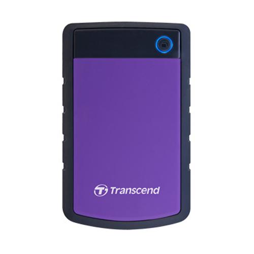 Transcend StoreJet防震移動硬盤 1TB 紫 25H3 USB3.0