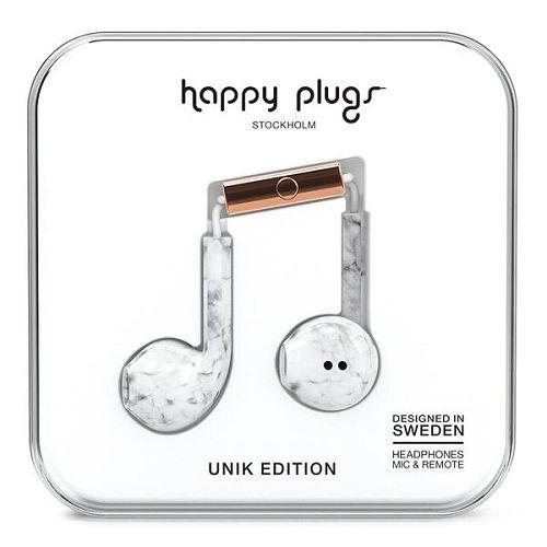 HappyPlugs Earbud Plus White Marble