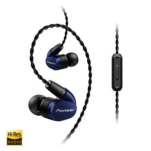 Pioneer Hi-Res Audio 入耳式耳機 藍 SE-CH5TL