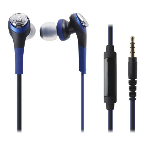 audio-tech Solid Bass In-Earphone for Smartphone 藍 ATH-CKS550is BL