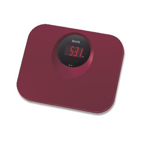 TANITA 輕巧電子體重磅 HD394酒紅