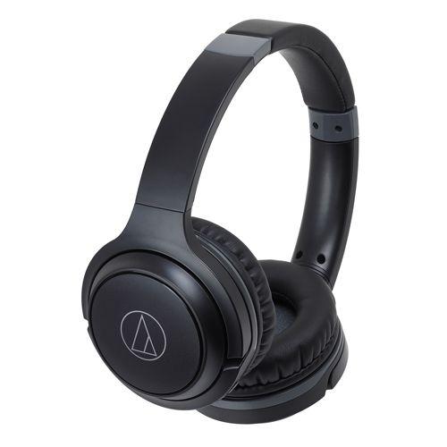 audio-tech Wireless Portable On-Ear Headphones 黑 ATH-S200BT BK
