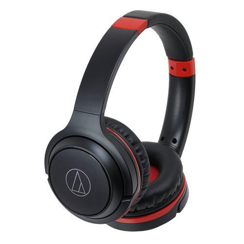 audio-tech Wireless Portable On-Ear Headphones 黑紅 ATH-S200BT BRD