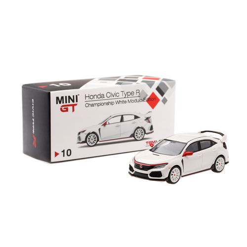 MINI GT Honda Civic Type R [w/Modulo Kit] Championship White