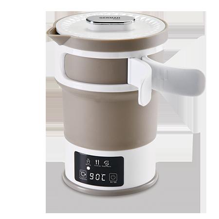 GERMANPOOL 旅行折疊電熱水壺 KTT-109 啡白