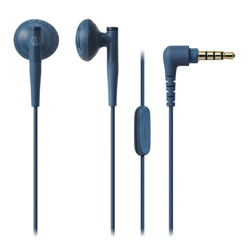 audio-tech Ear-Bud Earphones for Smartphone 藍 ATH-C200IS BL