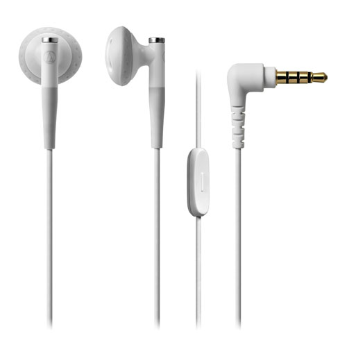 audio-tech Ear-Bud Earphones for Smartphone 白 ATH-C200IS WH