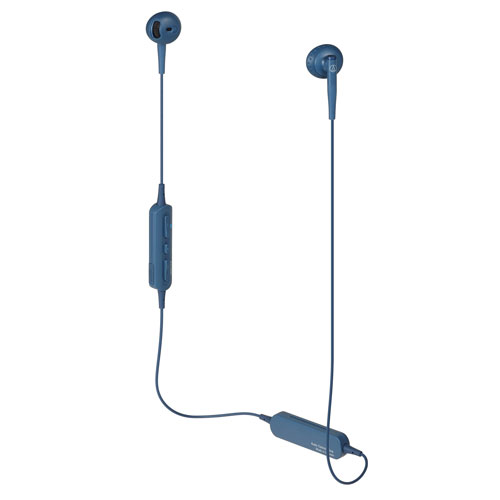 audio-tech Bluetooth Ear-Bud Earphones 藍 ATH-C200BT BL