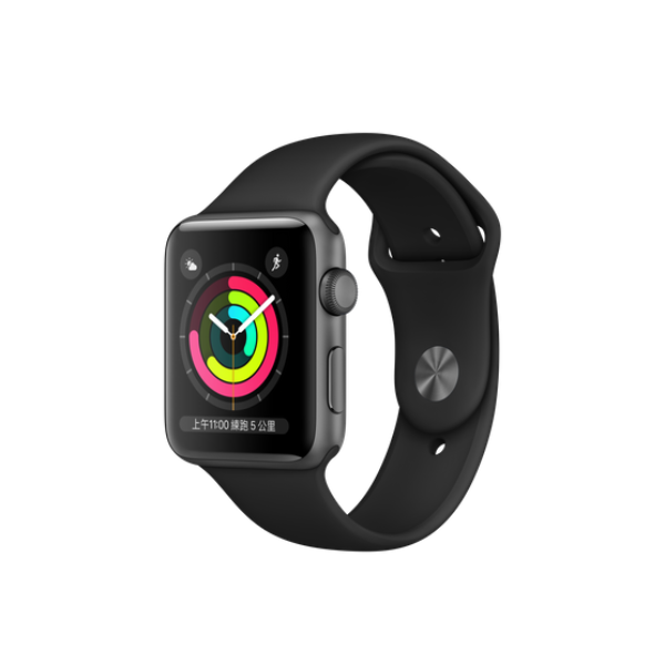 APPLE Watch S3 GPS 42mm Space Grey/Black Sport