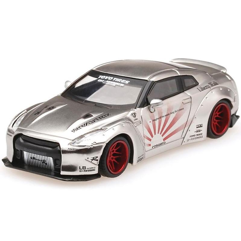 MINI GT LB*WORKS Nissan GT-R R35 [R.Wing Ver.2] Satin Silver