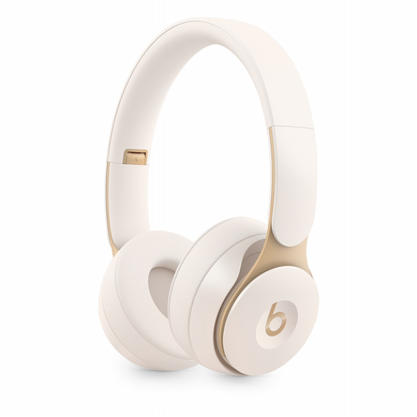Beats Solo Pro Wireless Noise Cancelling Headphones-Ivory