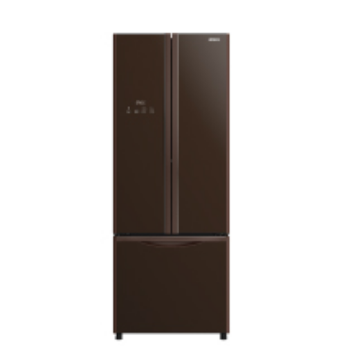 HITACHI 415L三門對門式雪櫃 RWB490P9H-GBW 啡玻璃