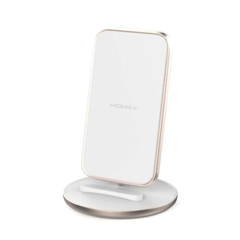 MOMAX Q.Dock5 直立無線充電座[需另購QC3.0火牛] 白[15W]