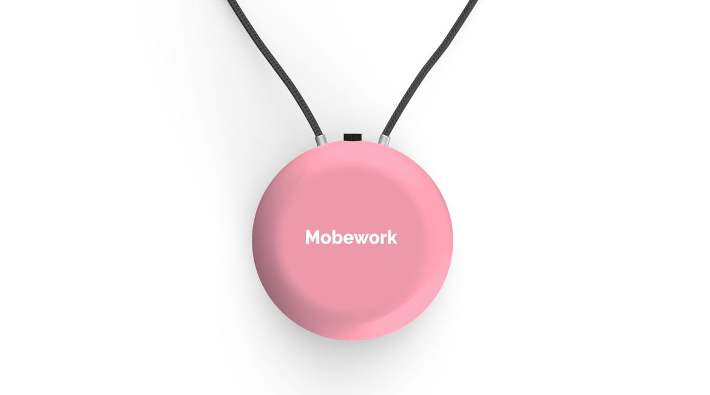 MOBEWORK 負離子隨身空氣淨化器 V2粉紅