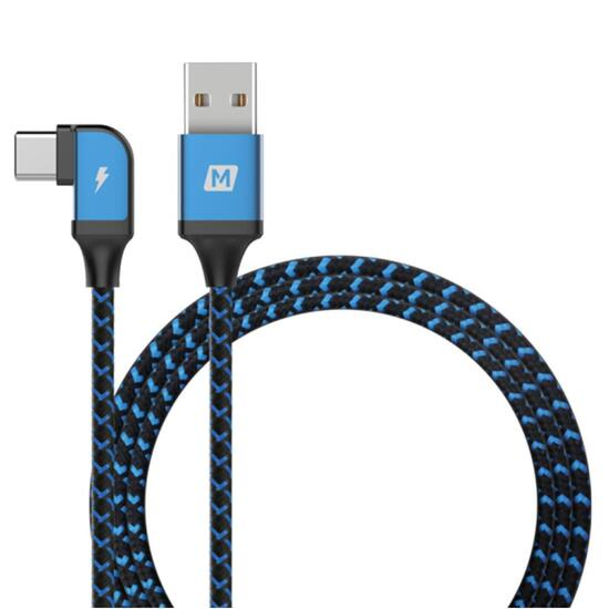 MOMAX GoLink L-Shape Type-C To USB Cable 1.2M 藍