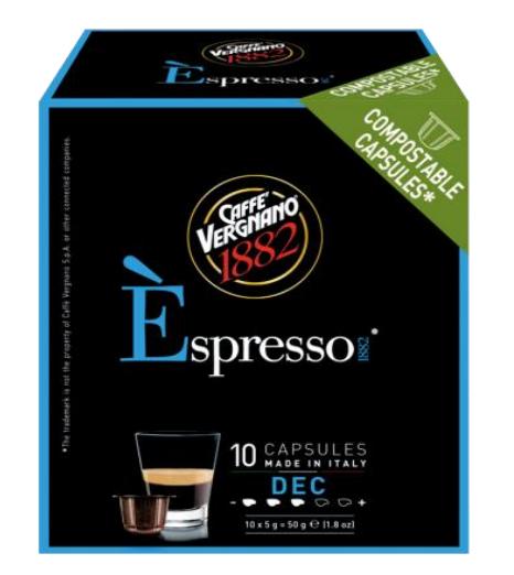 VERGNANO 1882低咖啡因咖啡膠囊/小 DECAFFEINATED