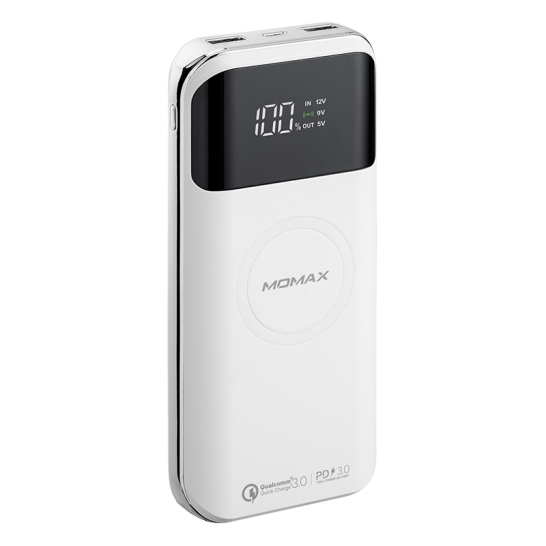 MOMAX Q.Power Air2+ 20000mAh無線充電流動電源 白