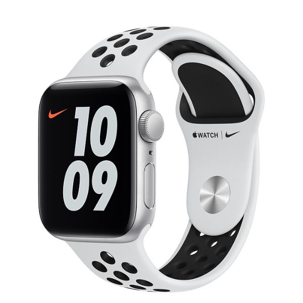 APPLE Watch Nike SE GPS 40mm Silver/Black Sport Band-Regular
