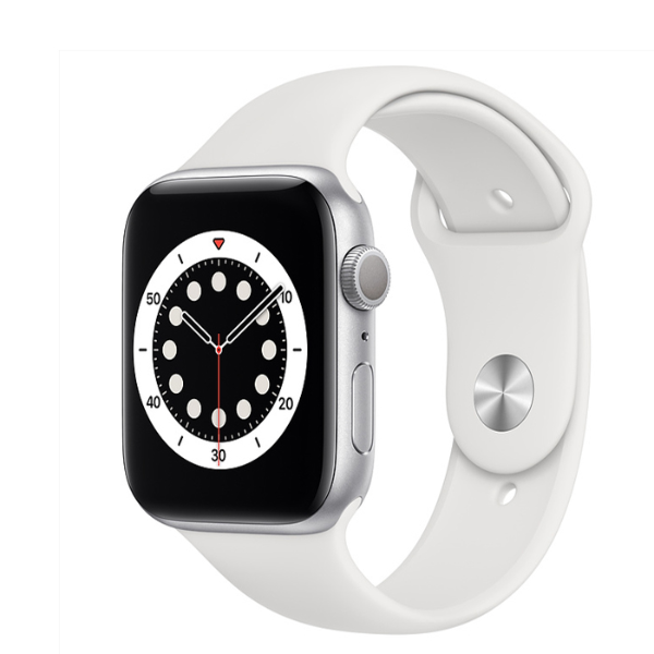 APPLE Watch S6 GPS 40mm Silver/White Sport Band-Regular