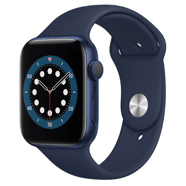 APPLE Watch S6 GPS 44mm Blue/Deep Navy Sport Band-Regular