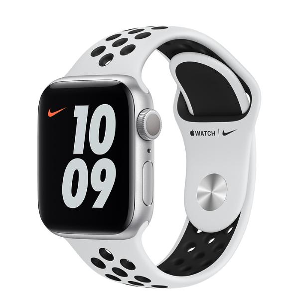 APPLE Watch Nike S6 GPS 40mm Silver/Black Sport Band-Regular