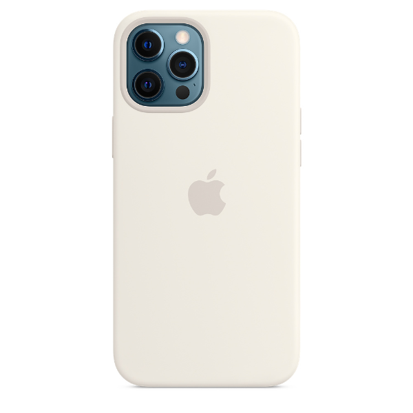 APPLE iPhone 12 Pro Max Silicone Case with Magsafe-White