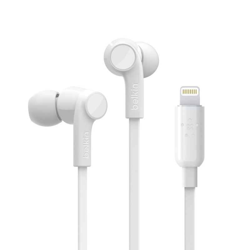 Belkin [S/i]ROCKSTAR Headphones with Lightning White