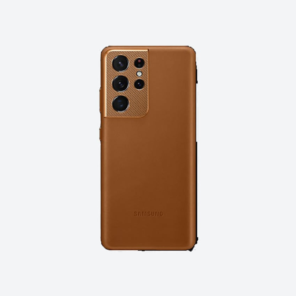 Samsung S21Ultra Leather Cover 真皮背蓋 Brown