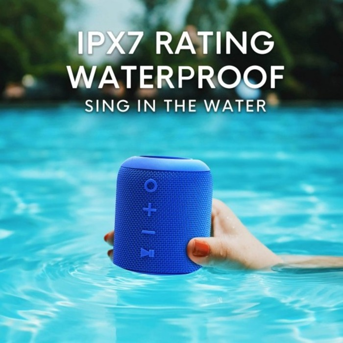 SoundCrush [S/i]M7便攜式防水立體聲藍牙喇叭[可插TF卡 Ocean Blue