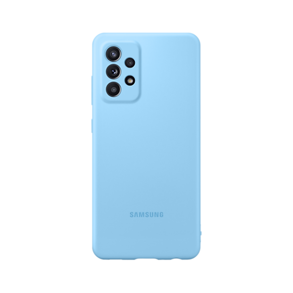 Samsung Galaxy A52 Sillicone COVER Blue薄型背蓋