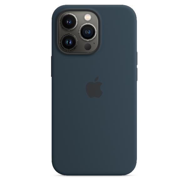 APPLE iPhone 13 Pro Silicone Case with Magsafe Abyss Blue