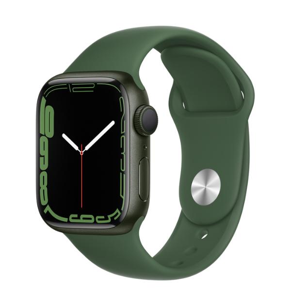 APPLE Watch S7 GPS 41mm Green/Clover Sport Band-Regular
