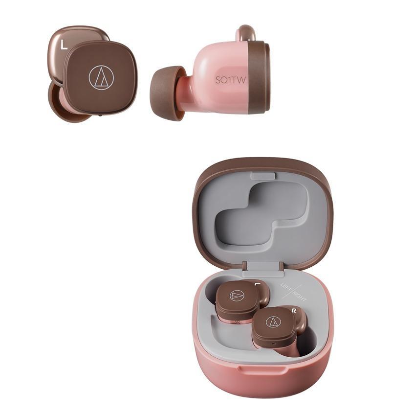 audio-tech 真無線 藍牙耳機 ATH-SQ1TW PBW 粉咖啡